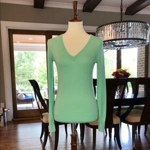 J.Crew Mint V-neck Lightweight Sweater